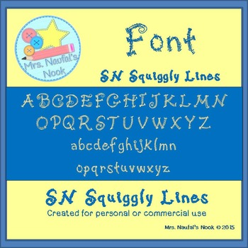 Font SN Squiggly Lines