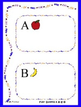 Font Sorting the Letters A B C D File Folder Game - Readin