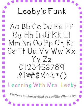 Font for personal and commercial use - Leeby's Funk