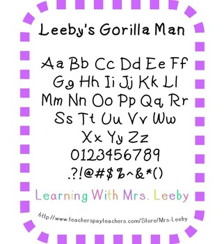Font for personal and commercial use - Leeby's Gorilla Man
