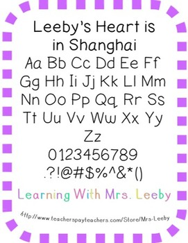 Font for personal and commercial use - Leeby's Heart is in