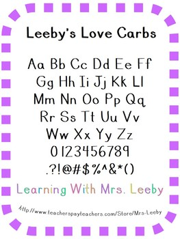 Font for personal and commercial use - Leeby's Love Carbs