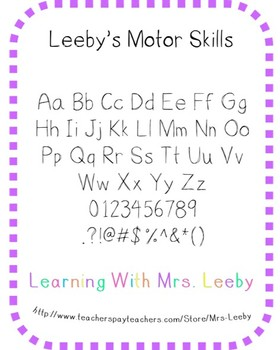 Font for personal and commercial use - Leeby's Motor Skills