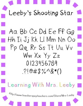 Font for personal and commercial use - Leeby's Shooting Star