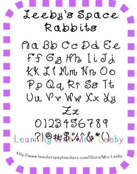 Font for personal and commercial use - Leeby's Space Rabbits