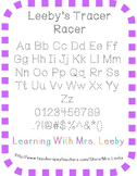 Free Font for personal and commercial use - Leeby's Tracer Racer
