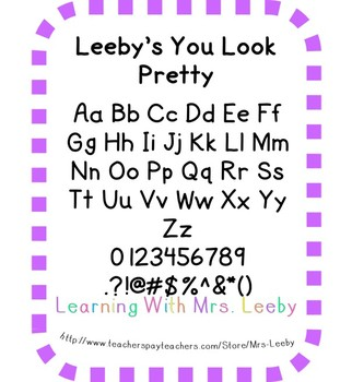 Font for personal and commercial use - Leeby's You Look Pretty