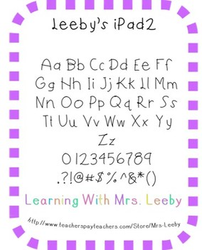 Font for personal and commercial use - Leeby's iPad2