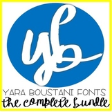 Font Bundle (124 in total) YB (Yara Boustani) Fonts
