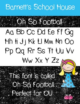 Fonts: Oh So Football Commercial Use Lifetime
