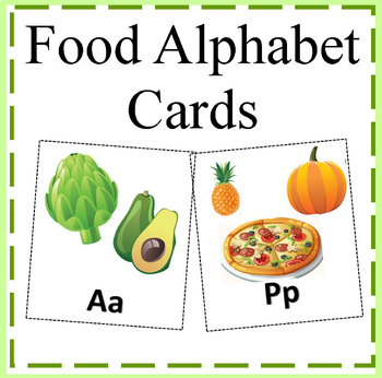 Food Alphabet Cards