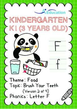 Food - Brush Your Teeth (II): Letter F - Kindergarten, K1