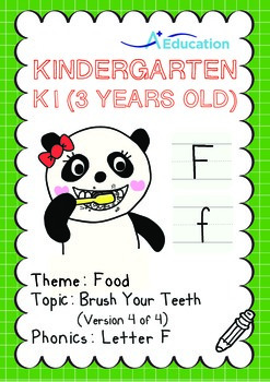 Food - Brush Your Teeth (IV): Letter F - Kindergarten, K1