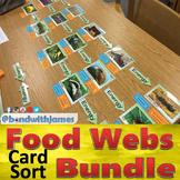 Food Chain and Food Web: Biome Card Sort Bundle