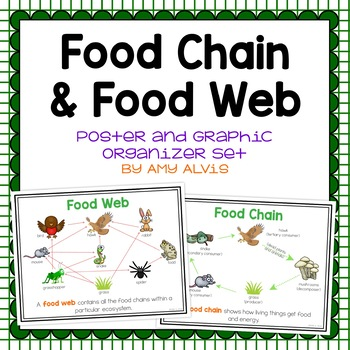 Food Chain - Food Web Posters and Interactive Notebook INB Set