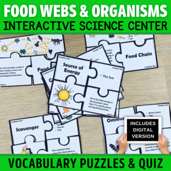 Food Chain Vocabulary Puzzles