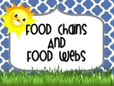 Food Chains and Food Webs Powerpoint