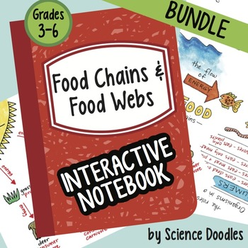 Food Chains and Food Webs Interactive Notebook BUNDLE by S