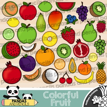 Colorful Fruit Clip Art