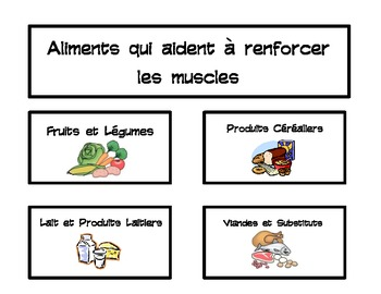 Food Group Matching - French