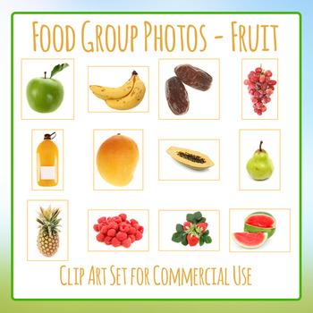 Food Group Photos - Fruits - Photograph Clip Art Set for C