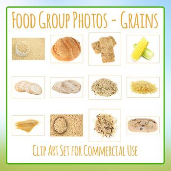 Food Group Photos - Grains - Photograph Clip Art Set for C