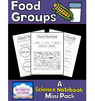 Food Groups: A Science Notebook Mini Pack