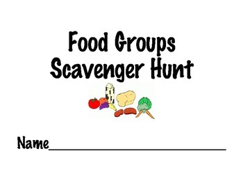 Food Groups Scavenger Hunt
