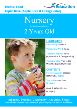 Food - Juice (Apple & Orange) : Letter H : Hang - Nursery