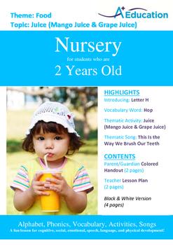 Food - Juice (Mango & Grape) : Letter H : Hop - Nursery (2