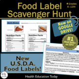 Health Nutrition Lesson: Food Label Scavenger Hunt - 42 Fo