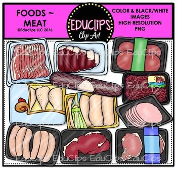 Food~Meat Clip Art Bundle {Educlips Clipart}