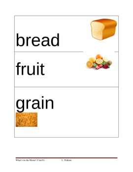 Food Picture Vocabulary Cards
