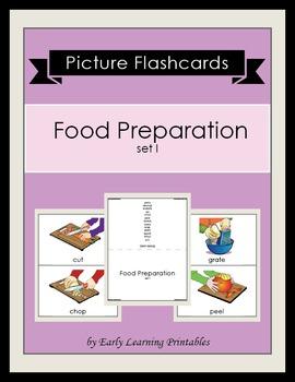Food Preparation set I Picture Flashcards