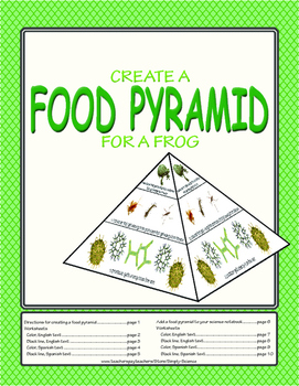 Food Pyramid Model for a Frog
