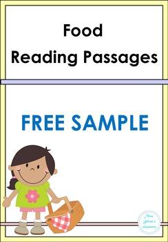 Food Reading Passage Free Sample