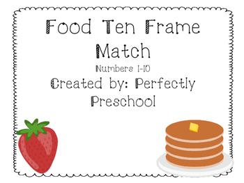 Food Ten Frame Match