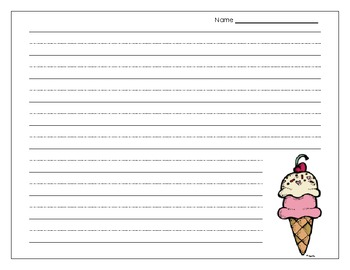 Food Thematic Writing Paper