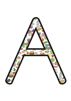 Food Themed Display Letters Uppercase