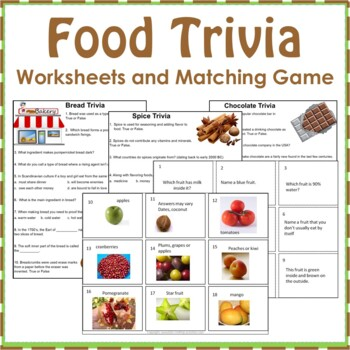 Food Trivia Card Game