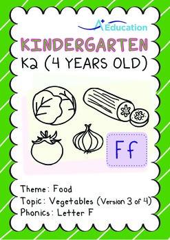 Food - Vegetables (III): Letter F - Kindergarten, K2 (4 ye