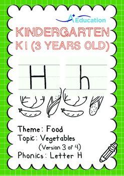 Food - Vegetables (III): Letter H - Kindergarten, K1 (3 ye