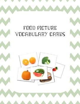 Food Vocabulary Flash Cards