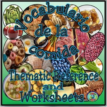 Food Vocabulary Glossary / El vocabulario de la comida