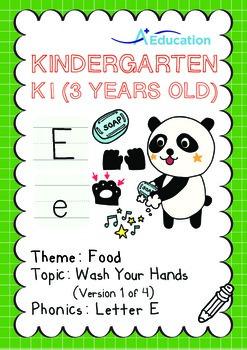 Food - Wash Your Hands (I): Letter E - Kindergarten, K1 (3
