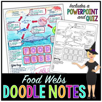 Food Webs Doodle Notes
