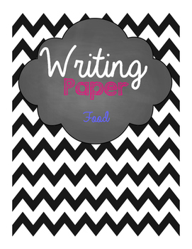 Food Writing Paper