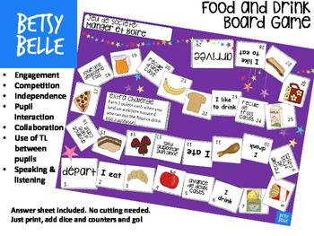Food and Drink Board Game Manger et Boire