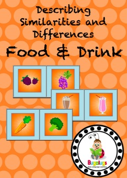 Food and Drink Similarities and Differences Spinning Wheel
