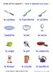 Food and Drink in French Word searches / Wordsearches